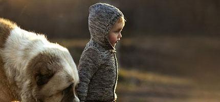 最美麗的動物小孩照