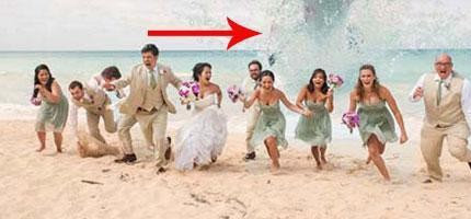 這就是我見過的最精采的結婚照。看來我需要重拍了!