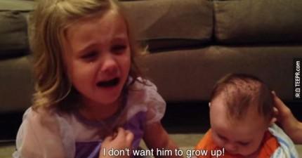 小女生想到可愛的Baby弟弟會有天會長大就徹底崩潰。我向你保證這支影片中絕無冷場!