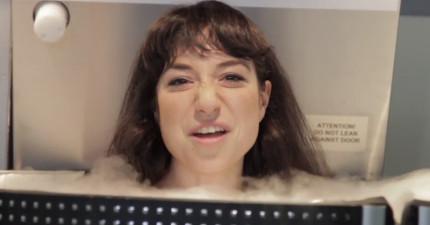 這些人裸體挑戰零下140°C度急凍空間,看得我也感覺快要結冰了...!