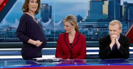 這位氣象主播被酸民酸懷孕身材難看,但看她和同事怎麼連番重炮還擊!