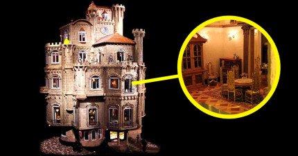 全世界最貴的2.7億超精緻娃娃屋歷時13年完工,所有細節讓你都想跟小叮噹要縮小燈了!