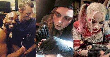 《自殺突擊隊》演員集體開心瘋玩刺青,但導演卻警告說「千萬不要找瑪格羅比刺青」!