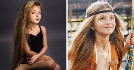 7歲俄羅斯小女孩有著「洋娃娃般」甜美外貌,一脫掉衣服「凸出來」大家超心疼!