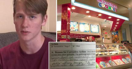 18歲店員自掏腰包「買一片餅乾送客人」被罵是種族歧視,慘遭老闆停職處罰