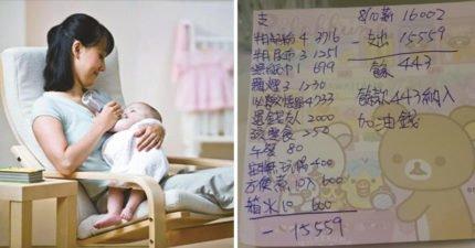 她為養3孩餐餐吃「醬油配白飯」,遭「月薪16K夫」怒罵只會敗家...心冷貼出「每月開銷明細表」被迫離婚!