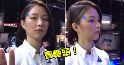 日本電玩展驚現「跟人類一模一樣」人形機器人?網友:對視讓我心跳加速!(影片)