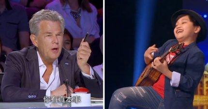 10歲台灣男孩《達人秀》烏克麗麗「自創曲」不被看好,一開始彈奏震驚全場評審用力砸「黃金按鈕」