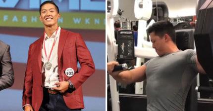 台裔牙醫奪下「2017世界健美時尚」冠軍,脫掉上衣的「健美身材」讓女生都要擦鼻血了!