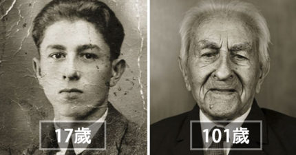 13位活過100歲的「世紀之臉」跟年輕時的比對照!