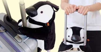 出國必備!「超軟萌企鵝袋」趴行李箱上少女心噴發!還有「超可愛白熊款」秒融化!