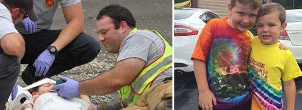 4歲童車禍「噴出車外」驚嚇大哭,消防員安慰「拿出手機」孩子秒冷靜下來。他:我該做的