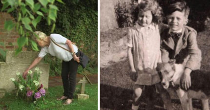 哥哥12歲就死但70年來一直有神秘訪客持續送花,找了70年終於找到...卻有另一個他...