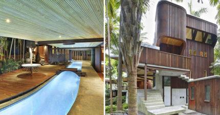 超狂6000萬豪宅擁小溪「貫穿全屋」,讓你可以直接「從客廳游泳回臥室」!(11張)