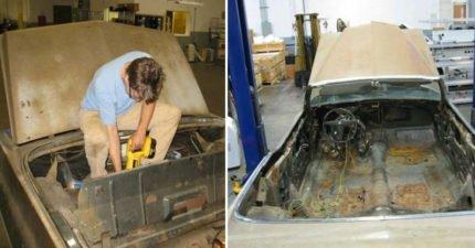 他們買了50年的老車,花7年超扯血淚改造成「史上最快浴缸」讓你一邊開車一邊洗澡!