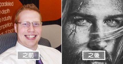 體重過百保險業菜鳥,聽了理髮師的話「留鬍子」讓他帥到連貝克漢都找他當模特兒