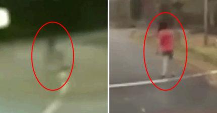 行車記錄器錄下「13個無解詭異毛骨悚然畫面」!網看完「一致推小孩部分」最可怕!(影片)