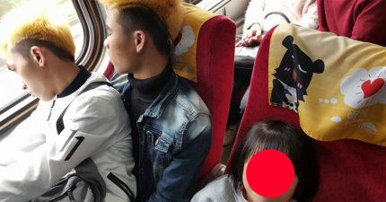 開工自強號「前胸貼後背擠到爆」,越南移工不忍小朋友一路站「當場人體交疊」全車乘客感動爆表!