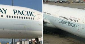 尷尬到雞母皮滿地!新飛機拼錯「國泰航空」 網笑慘:應該有7天保固吧?