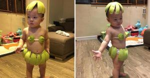 巧手媽幫兒打造柚子比基尼 化身「柚子仙子」可愛搖屁屁:只有我最搖擺~