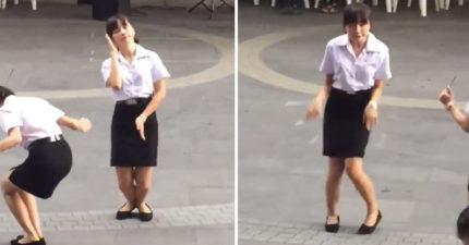 泰國女學生大跳「超魔性」舞蹈 「火雞出場」笑翻全場:她嗑了什麼全給我!
