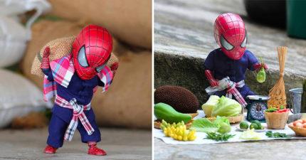 11張蜘蛛人「私下也要討口飯吃」的打工生活照 路邊掃垃圾未免也太悲涼QQ