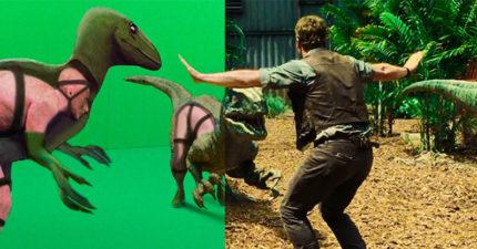 這就是恐龍的真面目!32張會讓你再也回不去的「電影特效前後照」