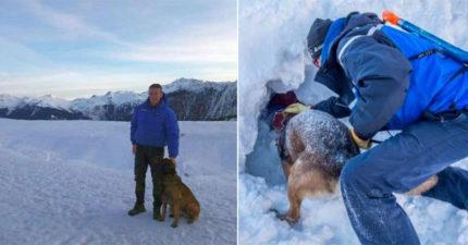 12歲男孩遇大雪崩!搜救隊「黃金15分鐘過就不用救了」 搜救犬卻在40分鐘後狂吠...
