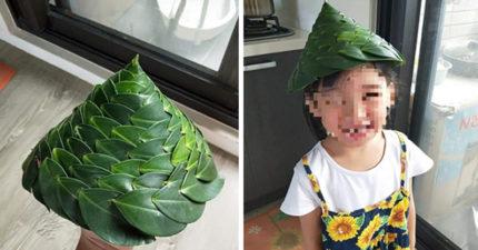 神手阿嬤幫孫做「彼得潘榕樹帽」不用一滴膠水就完成 不藏私教學大公開!