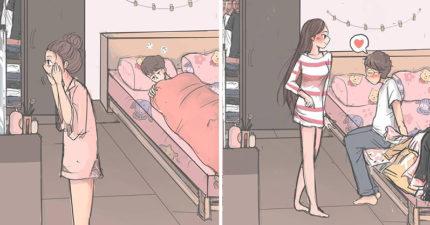 太暖了!她創作「男生VS女生起床差異」漫畫 最後一幕超有共鳴:戀愛過才會懂❤