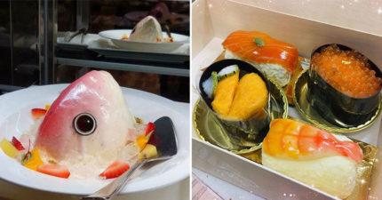 麵包店推超擬真「魚頭君蛋糕」嚇壞顧客 「甜版握壽司」太美味網推:今年生日吃這個!