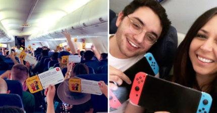隨機挑一台!任天堂超佛 送全飛機「每人1台Switch」粉絲超忌妒:一生的運氣QQ