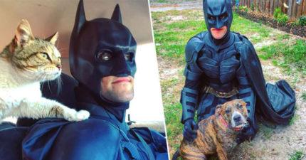 他每天扮成「蝙蝠俠」拯救浪浪 曝光「超感人原因」網讚爆:現代英雄!