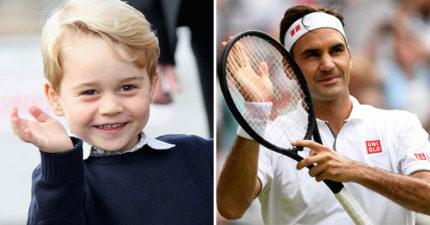 喬治小王子「私人網球教練」太大咖 凱特王妃爆料:「費爸」在教他打球!