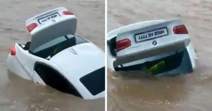 影/指定要Jaguar!他生日收到「BMW轎車」暴怒推入河中 父母:他心理狀態不太好