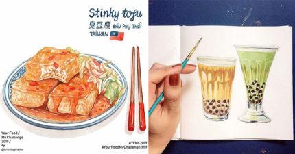 用筆就讓你肚子超餓!4位「食物繪畫達人」台灣經典零食完美複製