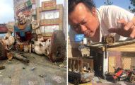 台灣藝術家在國外爆紅!他用廢材神還原「新北市街景」 放大看「超精細手工」被讚爆