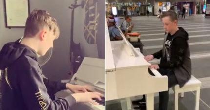 影/腼腆少年在車站彈奏《波希米亞狂想曲》爆紅 媽媽揭開「背後心酸真相」34萬人淚崩!