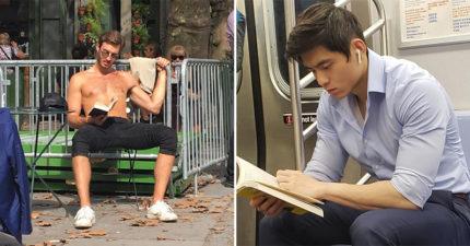 姊妹們快追起來!IG網羅「閱讀中的帥哥」少女融化 專注表情太性感