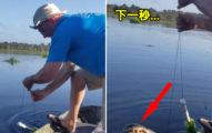 影/他釣魚發現有動靜「以為是大鯰魚」 下秒拉出「超兇猛物種」百萬人嚇傻!