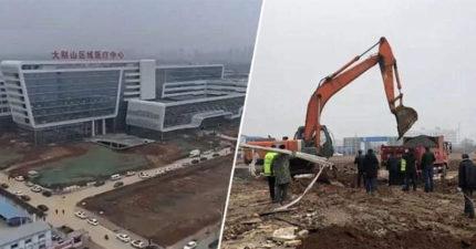 為治武漢肺炎…中國「花不到7天」蓋出1千床位醫院 500名工人準備再蓋一棟!