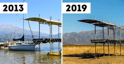 14張證明「地球快不行了」的前後對比圖 整座湖泊「乾掉變草原」畫面太悲傷…