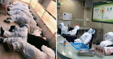 一線醫護人員「包尿布看診」不敢吃喝 做到累癱「倒地就睡」催淚畫面曝光!