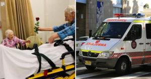 104歲爺爺情人節緊急送醫 在病床撐起身子「堅持送花」:老婆情人節快樂!