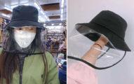 口罩搶不到「武肺防疫帽」秒爆紅 全套帽罩「防飛沫」大人小孩都可用!