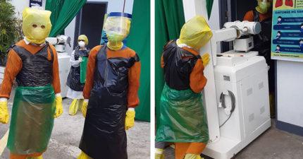 醫護人員把「垃圾袋→防護裝」 為治療病患「冒險包全身」是真正的英雄!