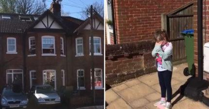 8歲女孩因「武肺隔離」沒辦法慶生 爸媽聯手「整條街」幫她唱生日歌!