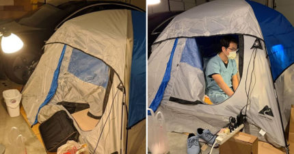 醫生為保護家人只能「搭帳篷睡車庫」 提出「最心疼請求」:求你們待在家!
