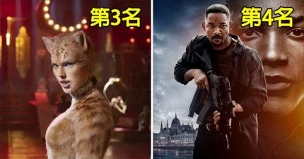 2019年「賠到片商想哭」的5部電影 《貓》只拿第3名?