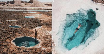 夢幻寶石色「天然鹽湖」IG爆紅 「不開濾鏡」就像一幅畫!